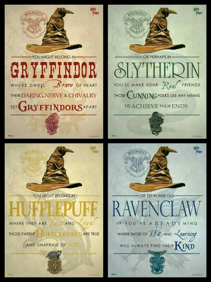 Harry Potter Haus Hufflepuff Gryffindor Ravenclaw Slytherin Harry Potter Printables Harry Potter Room Harry Potter Bday