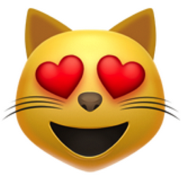 The Smiling Cat Face With Heart Eyes Emoji On Iemoji Com Smiling Cat Emoji Wallpaper Cat Emoji