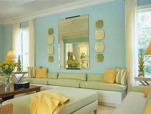 Light Blue Colour Combination Wall Painting