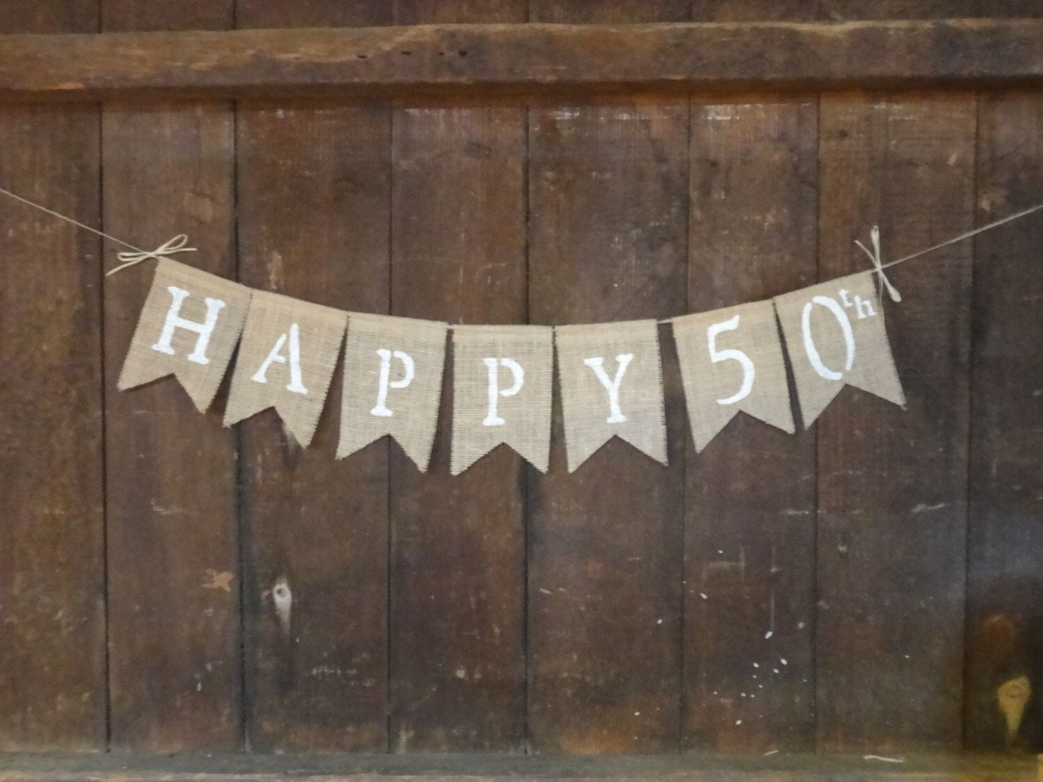Happy birthday burlap banner anniversary burlap banner th