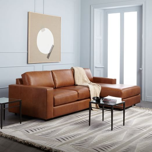 Awesome Urban Leather 2 Piece Chaise Sectional In 2019 Living Room Pabps2019 Chair Design Images Pabps2019Com