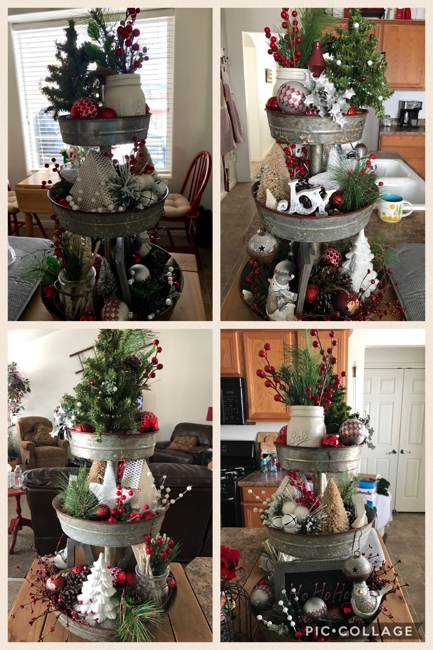 Pin By Laura Ripley On Christmas Kitchen Christmas Decorations Tray Decor Christmas Christmas Centerpieces
