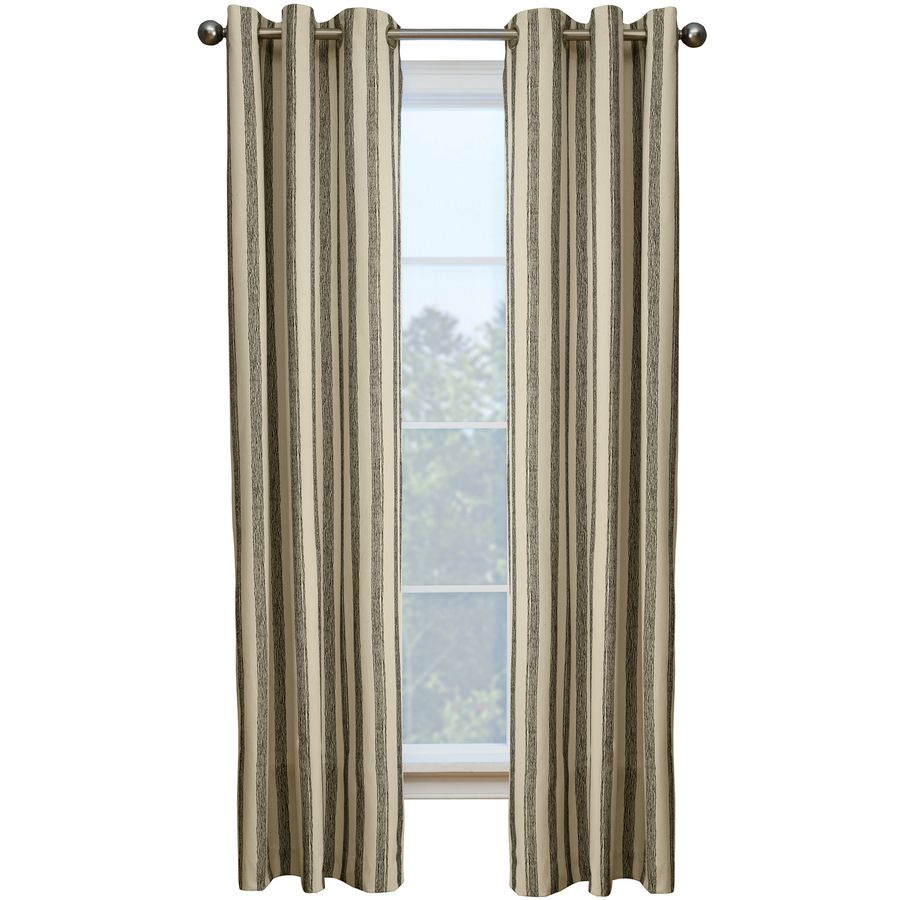 Shop Style Selections Capulet 84 In L Striped Onyx Grommet Window