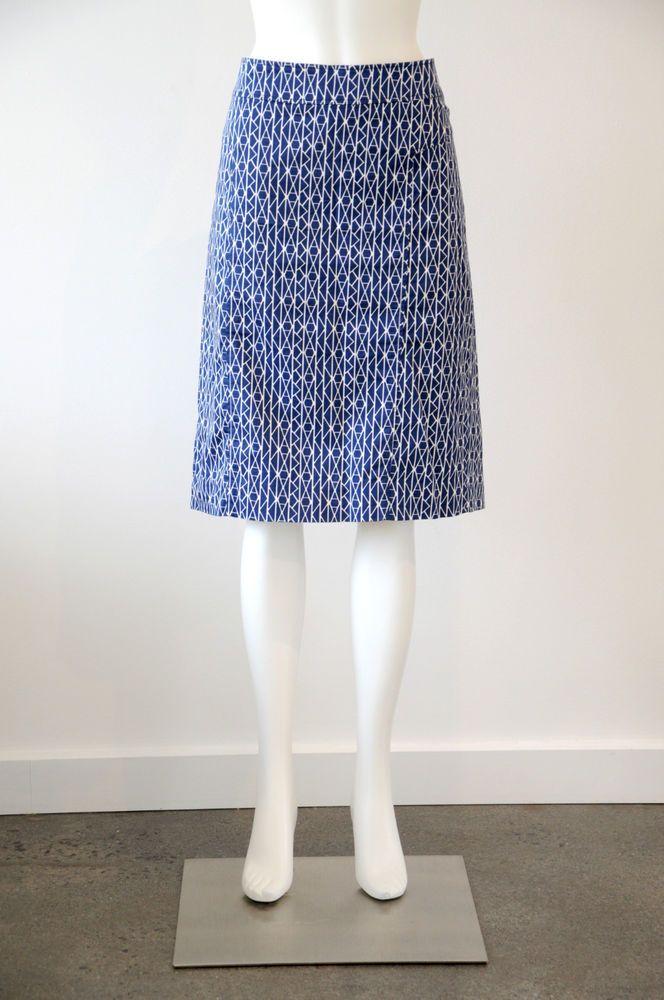 Sportscraft  Women s Printed Cotton Pencil Straight Skirt {Size 12}