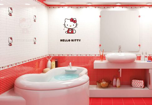 Hello Kitty Bathroom Tiles Magnificent Design