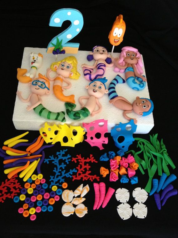 Complete Bubble Guppies Cake Topper Kit By HeavenlyCakesFL On Etsy 21000
