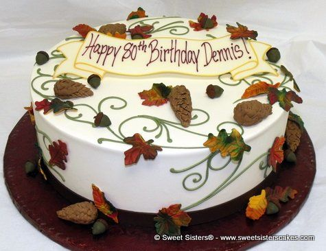 Another Autumn birthday cake for that special man from Sweet