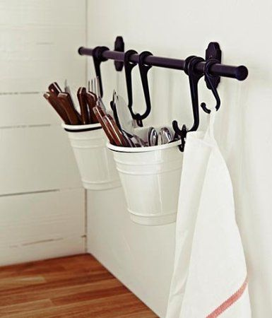 Amazoncom  Ikea Fintorp White Steel Cutlery Caddy for
