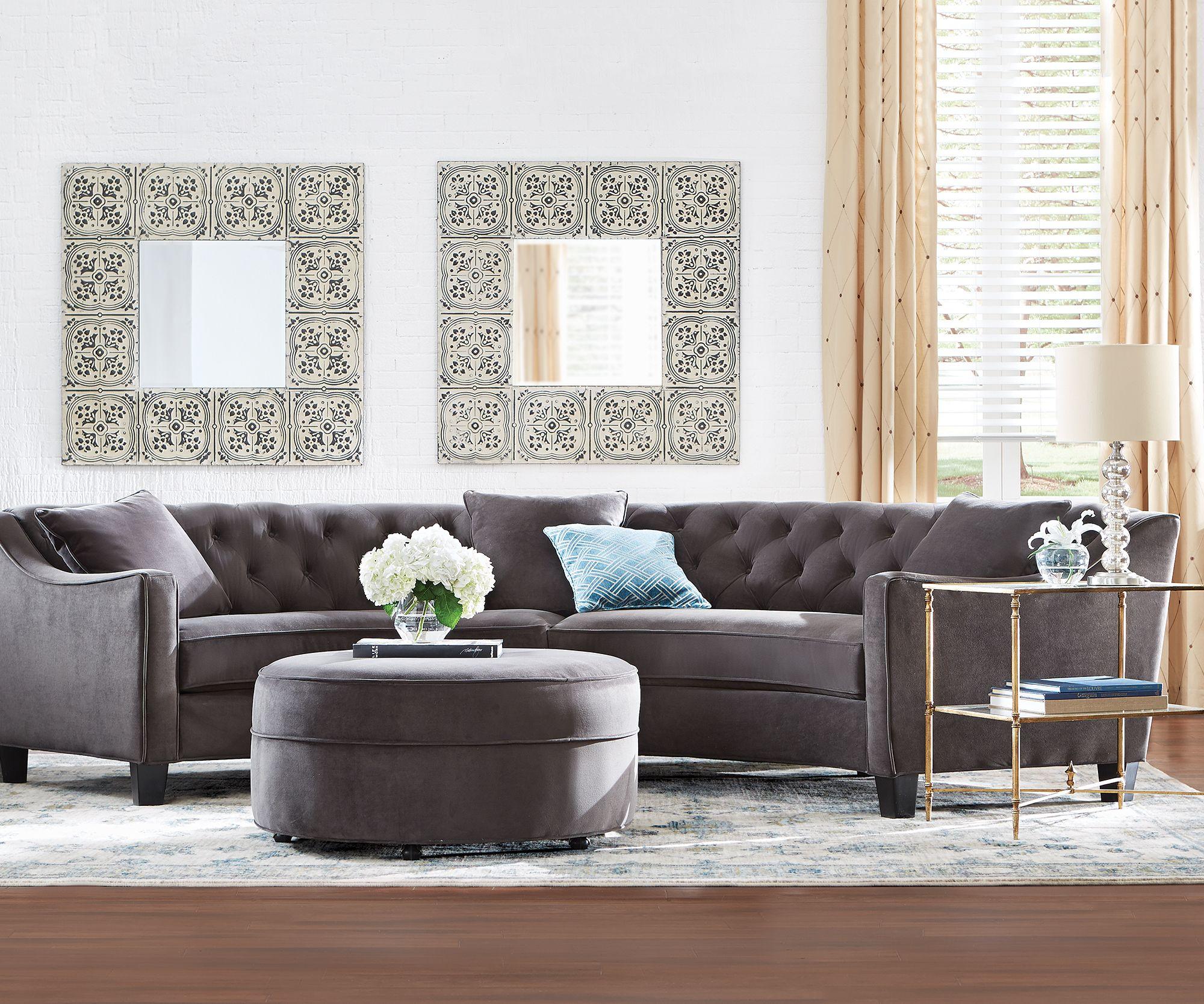 Unique Sofas: A Glamourous Curved Sofa Offers A Unique Shape. A Perfect