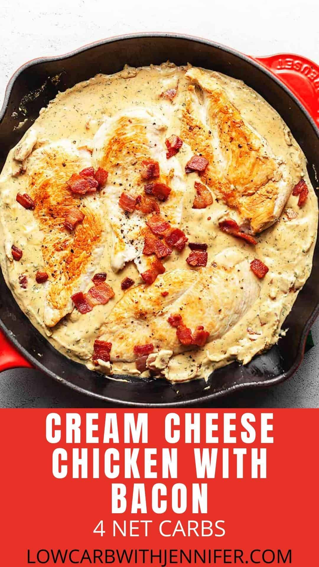 Cream Cheese Chicken with Bacon • Low Carb with Jennifer