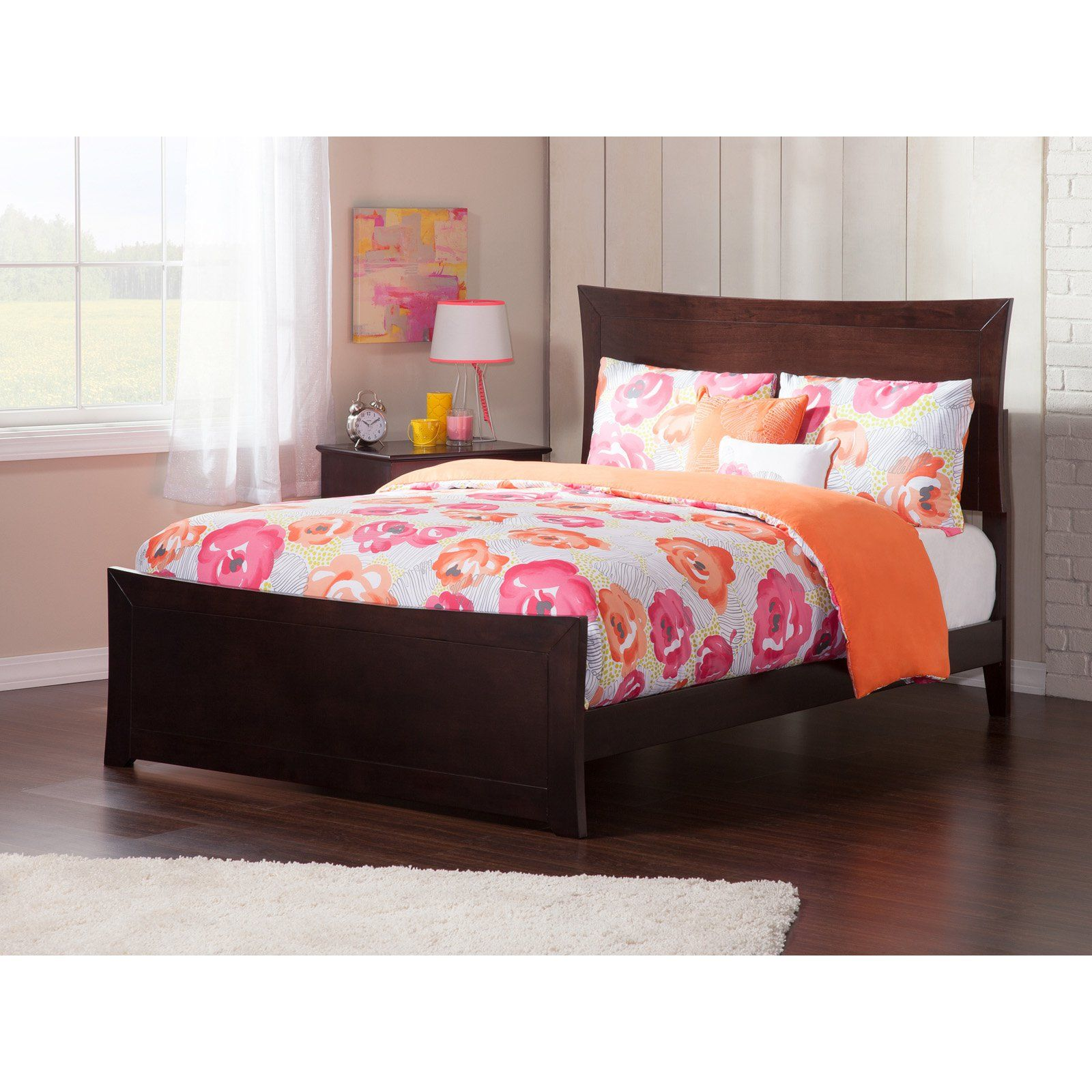 Atlantic Furniture Metro Bed With Matching Foot Board And Optional