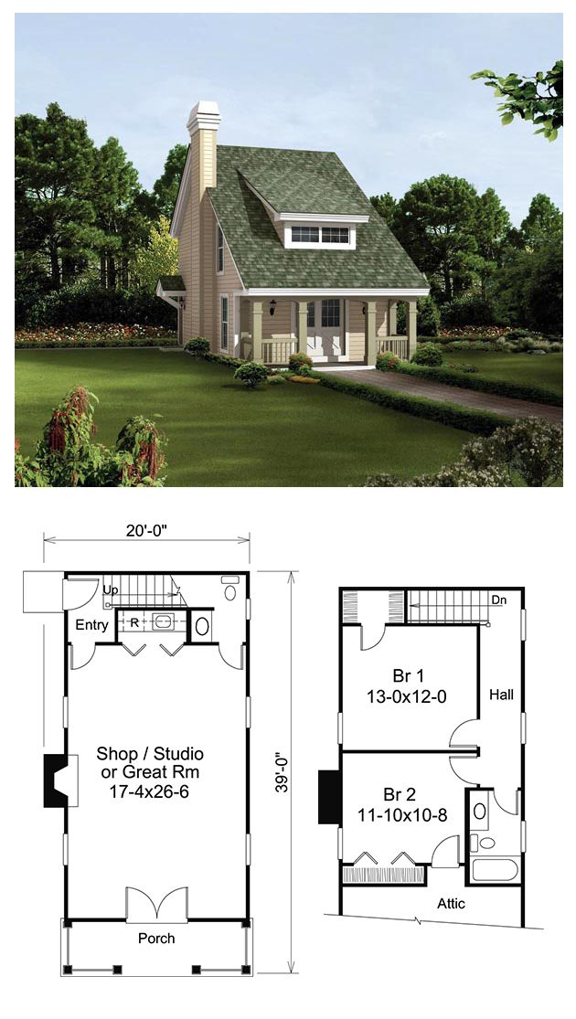 Traditional Style House Plan 95817 With 2 Bed 2 Bath Attic Renovation Saltbox Houses Attic Remodel