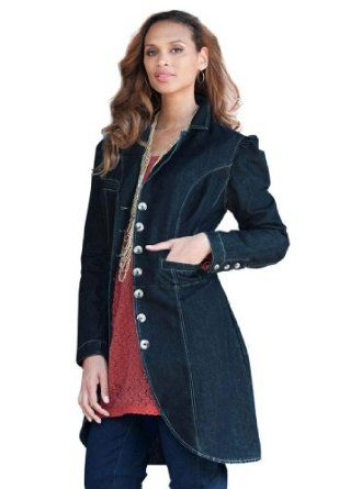 15ccad27a95a1 Jessica London Plus Size Denim Duster Denim