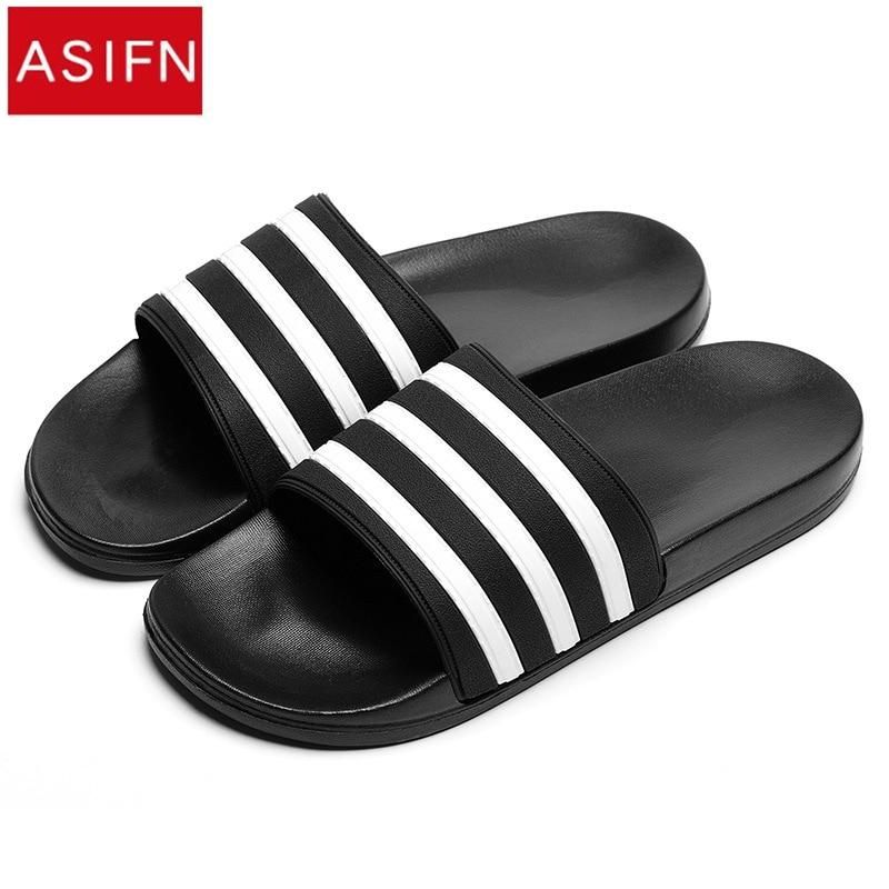 Black and White Stripes Casual Slipper  #art #handmade #like #cute #outfit #design #dress #style #shopping #girl