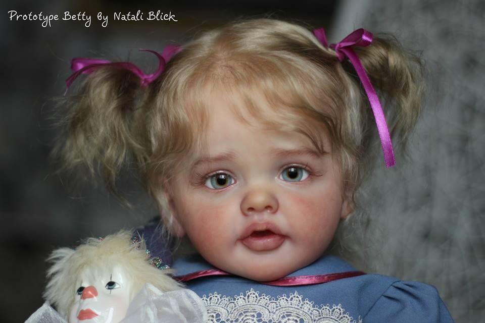 "Betty by Natali Blick 27/""~ COA~ limited Reborn Doll KIT"