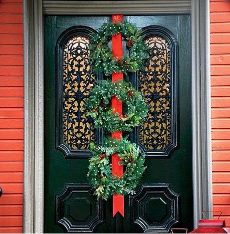 Improvements Triple Wreath Door Hanger From HSN. Holiday Decorating Is Made  Easy With This Over The Door Metal Hook. Hang The Wreath Over Any Door And  You ...