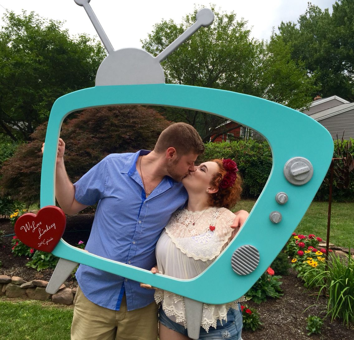 I Love Lucy Birthday Party Theme Photo Frame Booth Prop