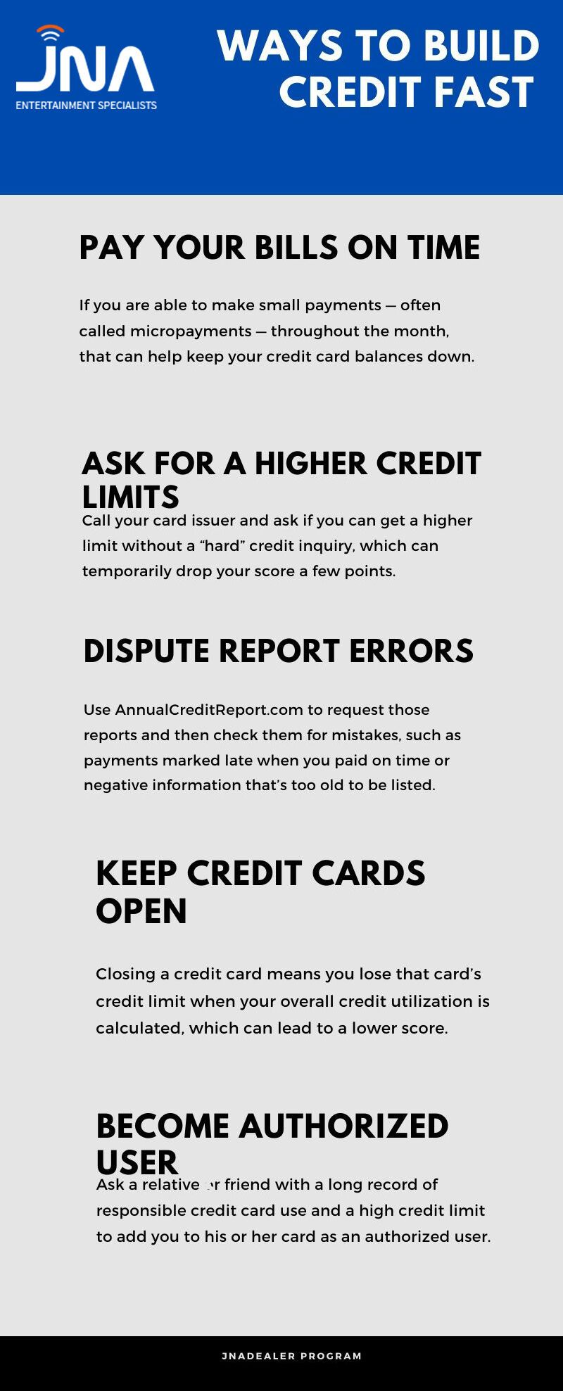 Fastest Way To Build Your Credit Score in 2020 JNA