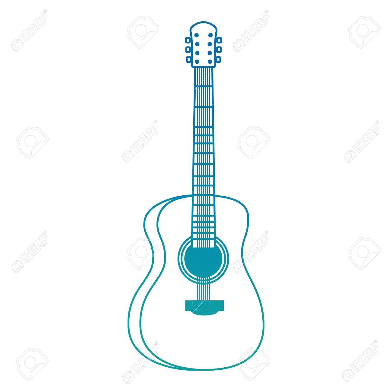 Acoustic Guitar Musical Instrument Vector Illustration Design Sponsored Musical Guitar Acoustic Instrument De Music Instruments Instruments Guitar