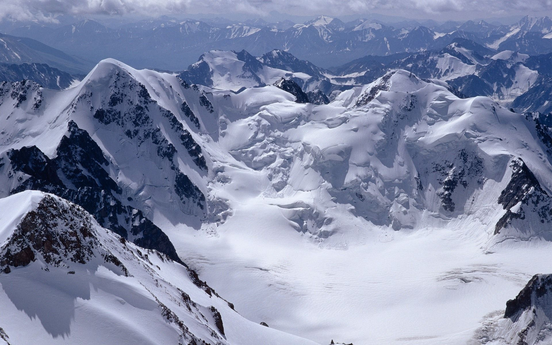 Snowy mountains [ wallpaper Nature wallpapers