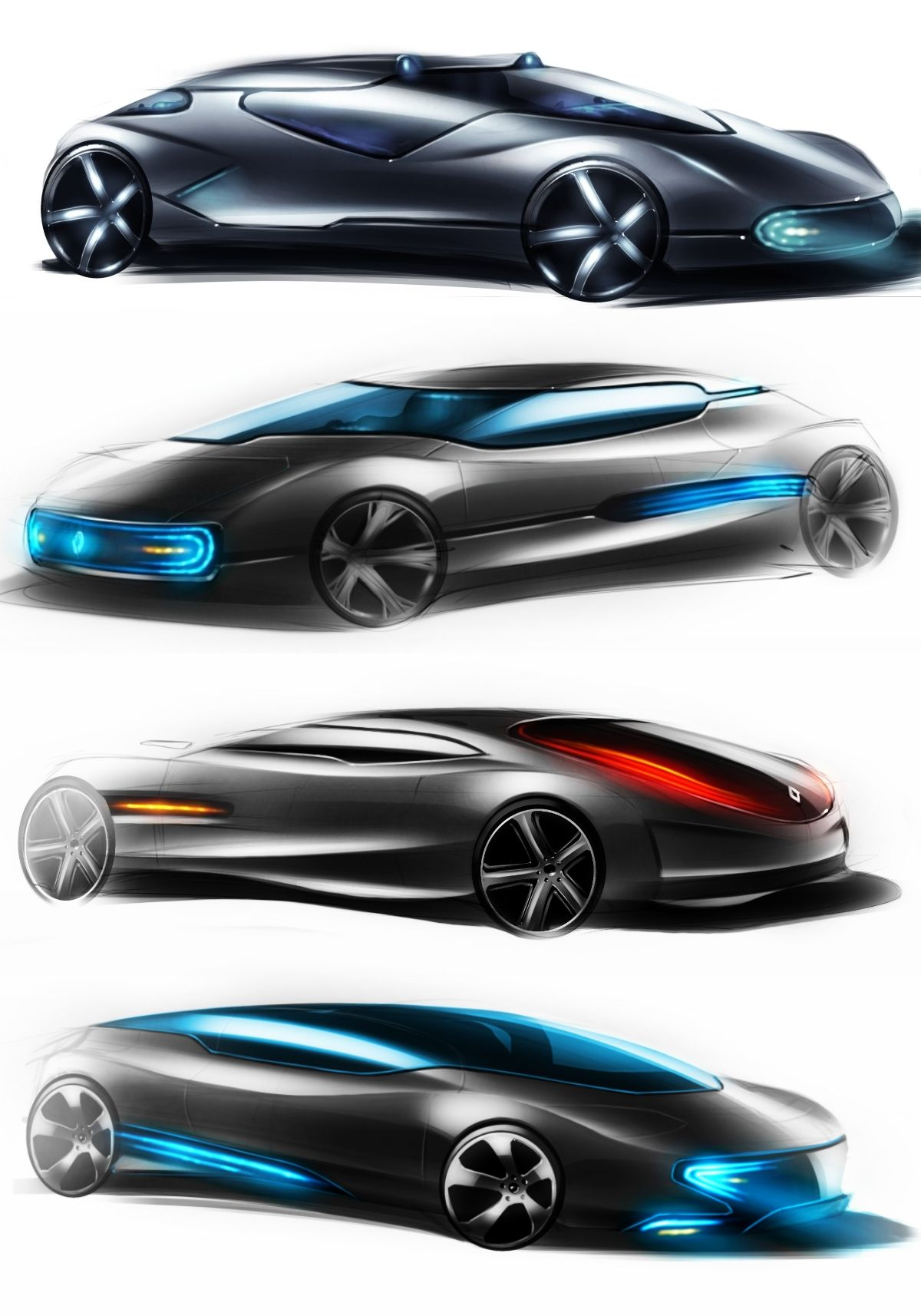 futuristic cars by paulo78