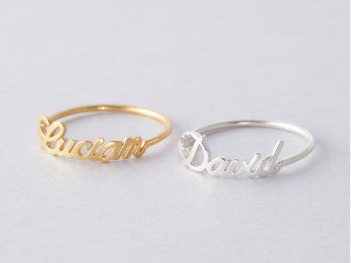 502d298a2d Stackable Rings with Names - Megan Font - Set 1-3 rings | Rings in 2019
