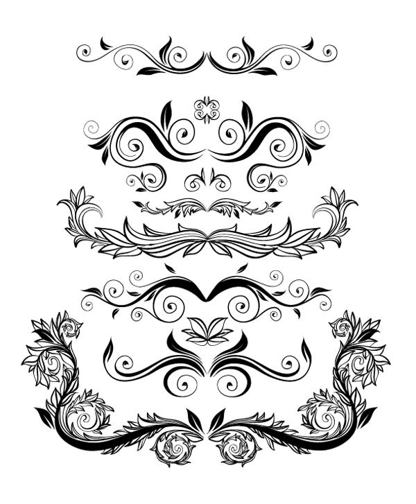 Roundup Of Free Vintage Ornament Floral Vectors Ornement Transferts D Images Dessin