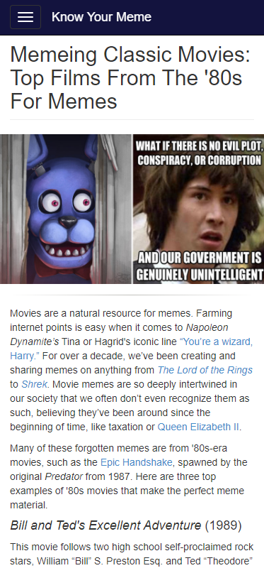 Memeing Classic Movies Top Films From The 80s For Memes Classic Movies Memes Top Film