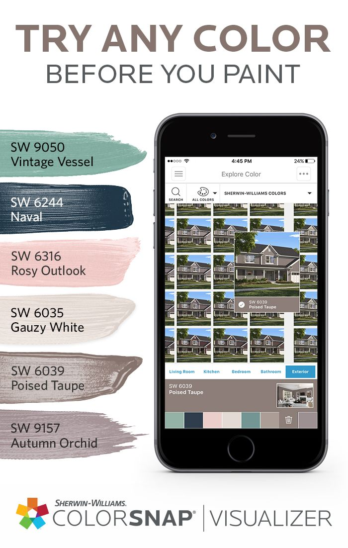 The Perfect Paint Color Is Out There Zoom In To Find It Using The Kaleidoscope Feature In Outside House Paint Colors Paint Color App Exterior Paint Visualizer