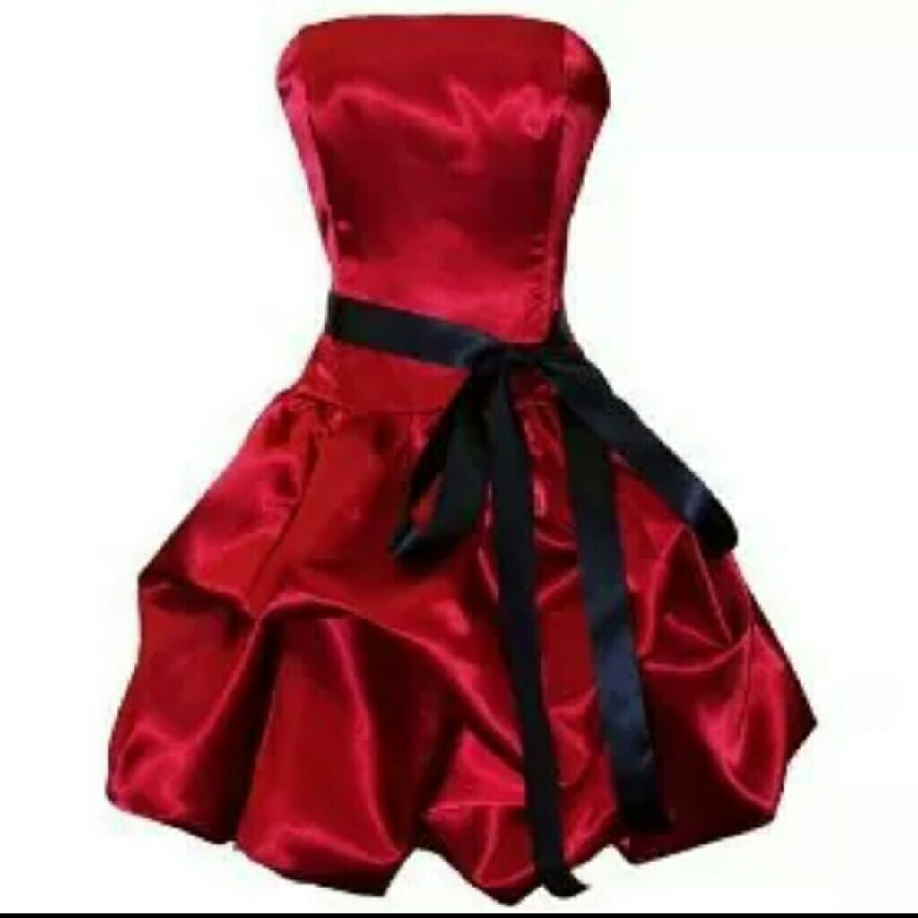 Red party dress with black ribbon bow red party dresses black