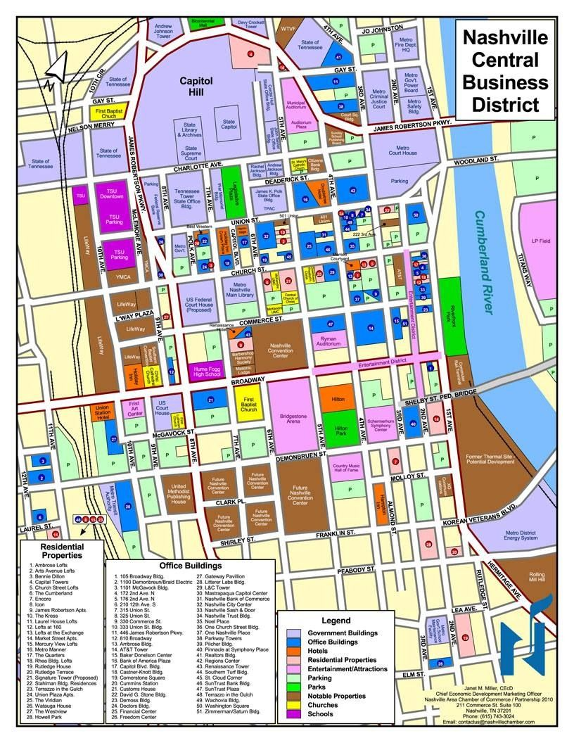 map of downtown nashville attractions Plan Nashville Nashville Downtown Nashville Attractions Nashville Tennessee Downtown map of downtown nashville attractions