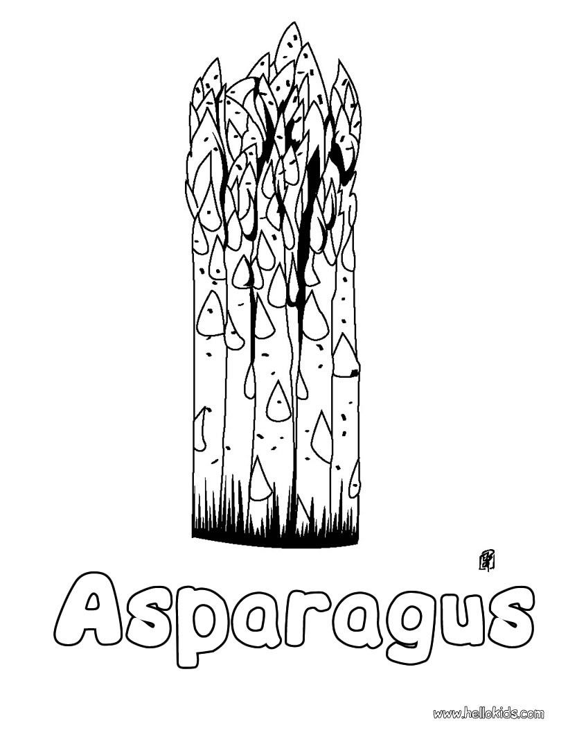 This lovely Asparagus coloring page is one of my favorite ...