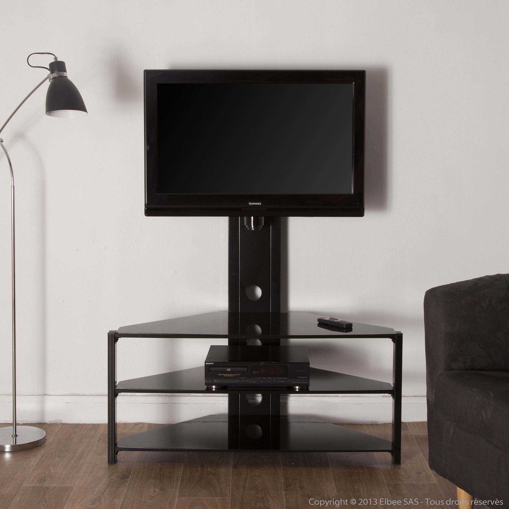 Meuble Tv D Angle Noir Urbantrott Com # Meuble Tv Hifi D Angle Moderne
