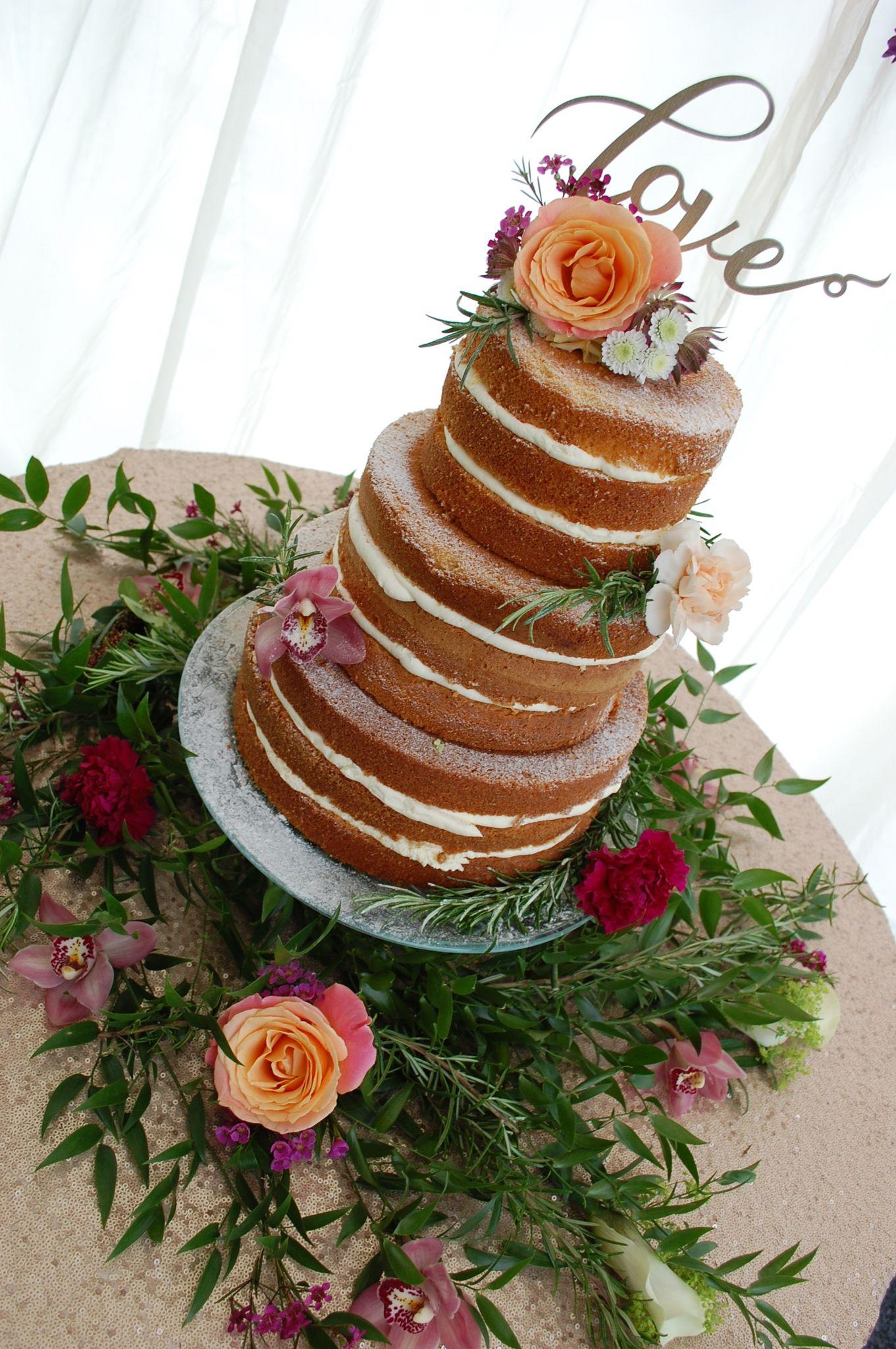 Pin on Semi & Naked Wedding Cakes