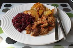 Mäsko s korením, cibuľou a červenou kapustou | Kinga blogger
