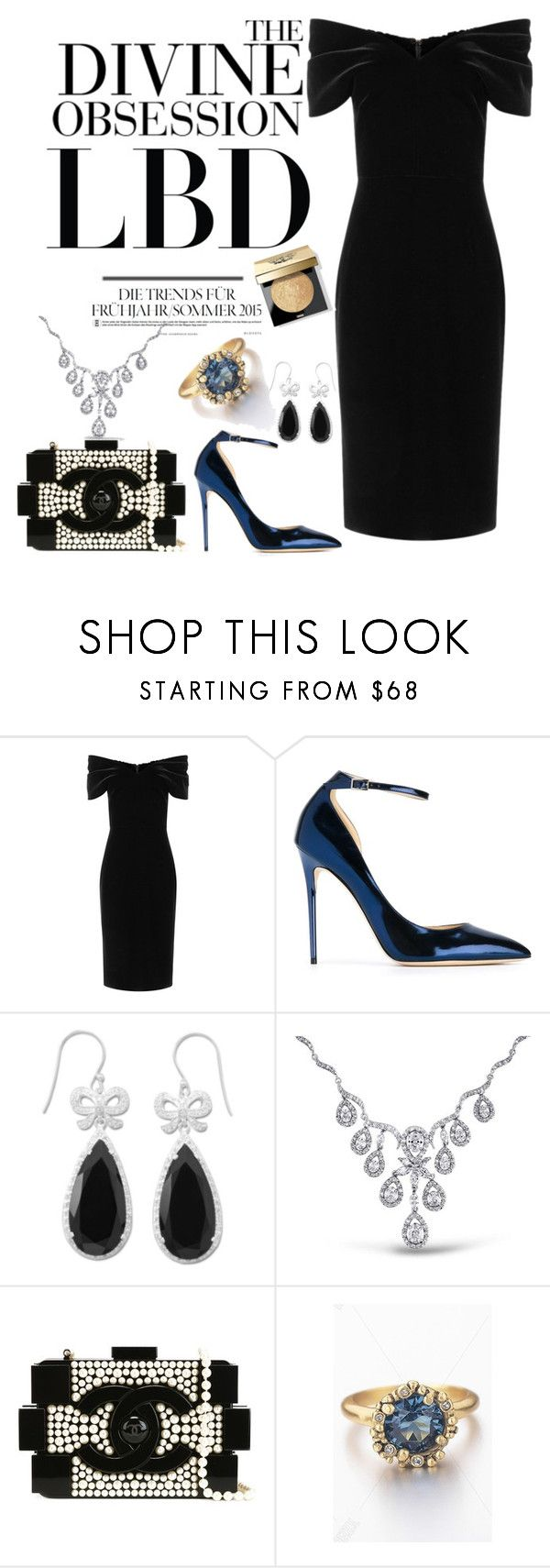 """The LBD"" by tfashionspeaks ❤ liked on Polyvore featuring Emilio De La Morena, Jimmy Choo, Vera Wang, BillyTheTree, Bling Jewelry, Chanel and Bobbi Brown Cosmetics"