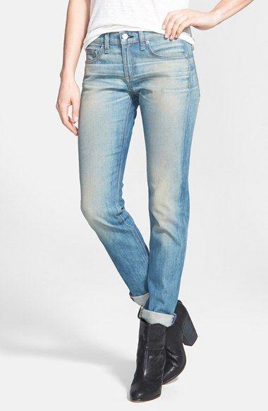95615d09ac Fitness · Como Usar · 'The Dre' Slim Fit Boyfriend Jeans (Greencast)  Pantalones Vaqueros Desteñidos, Boyfriend