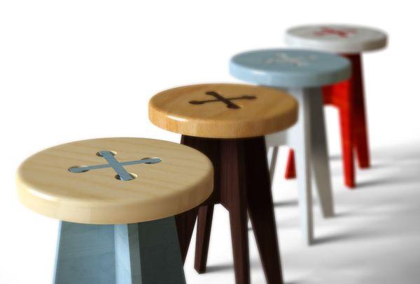 ボタンのイス。 button stool pinterest madera sgabelli e bambino