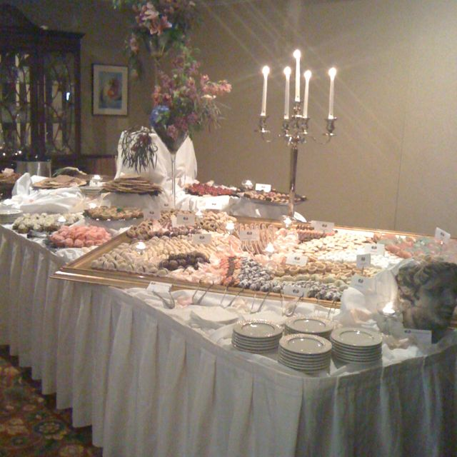 Wedding Cookie Table I have a large mirror that you can use ...