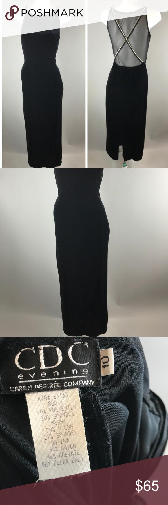 S velvet prom dress gown rhinestone mesh back black velvet prom