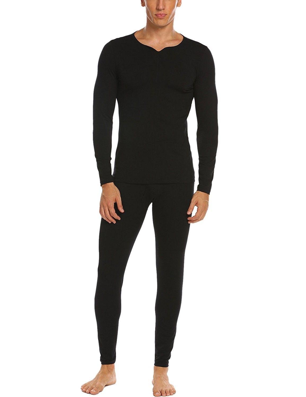3ef6f113a22a Men's Soft Winter Cotton Thermal Underwear Long Cozy Pajamas Sets S-XXL -  Black - CP187CE27G5,Men's Clothing, Underwear, Thermal Underwear #men # clothing ...
