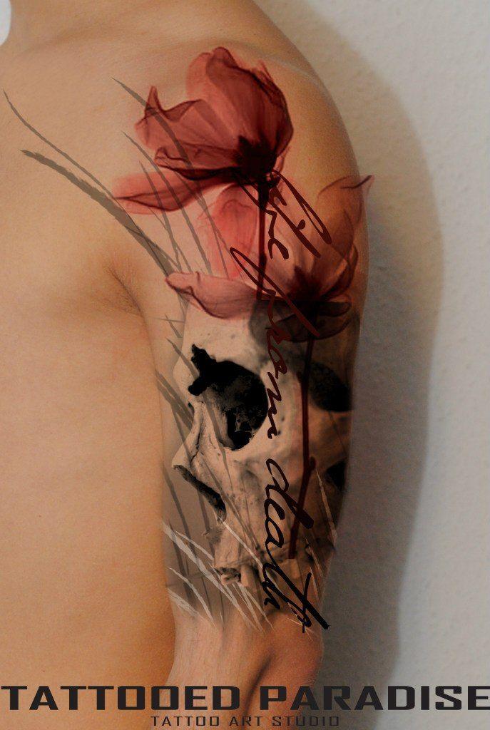 Pin Von Maike Riedstra Auf Tattoos Mohnblumen Tattoo Armeltatowierungen Beeindruckende Tattoos