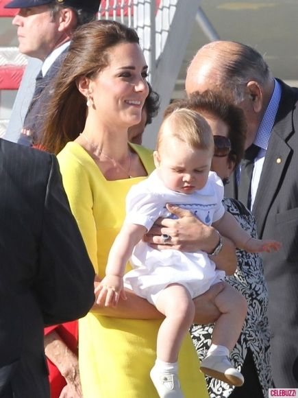 Prince William and Kate Arrive in Sydney with Prince George