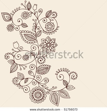 Simple Doodle Ideas | ... Paisley-Style Doodle Vector Illustration Design Element - stock vector
