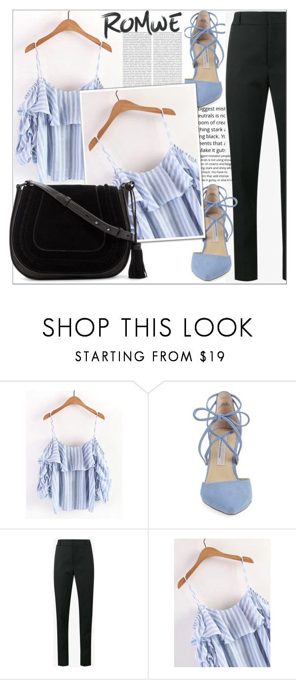 """ROMWE"" by amilasahbazovic ❤ liked on Polyvore featuring Kristin Cavallari, Yves Saint Laurent, Oris and Vince Camuto"