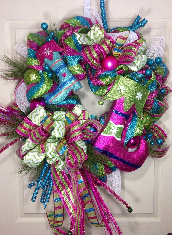 Candy Land Christmas Mesh Wreath on Etsy, $12900 themed wreaths