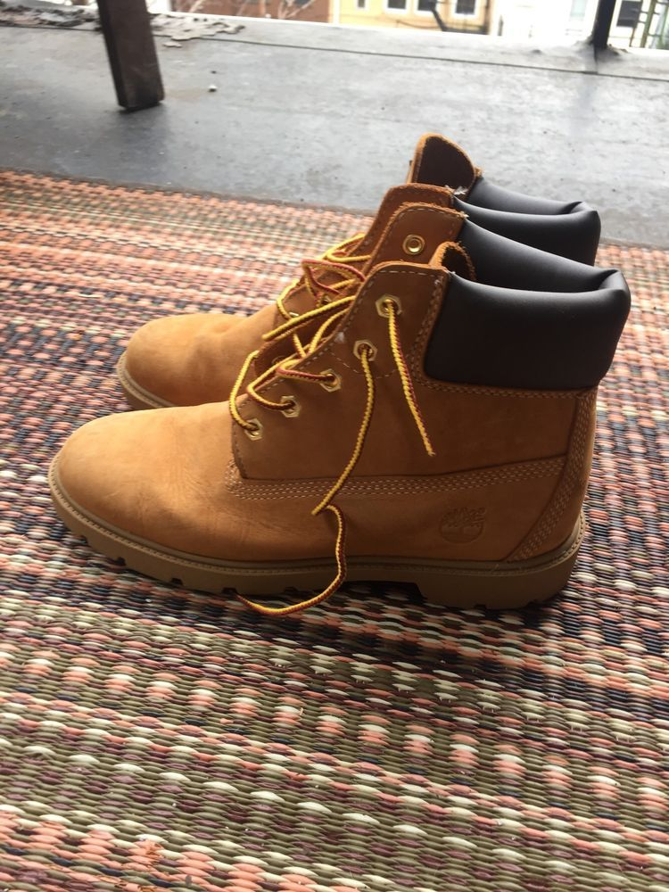high fashion on feet shots of pick up Timberland size 5.5 Premium Waterproof Boot Wheat Nubuck ...