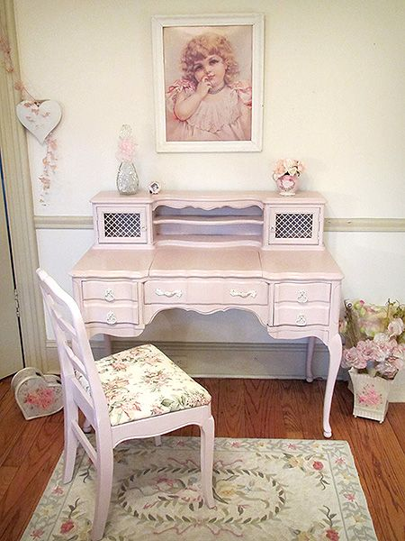 Vintage French Provincial Vanity Desk