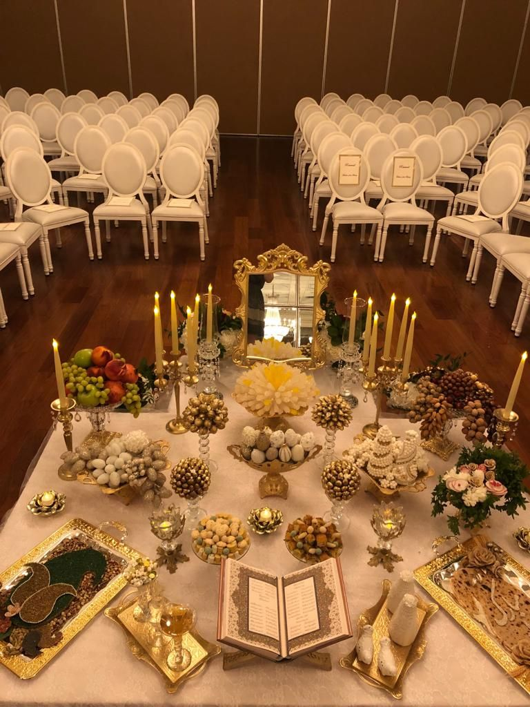 Modern Sofreh Aghd | Wedding stage decorations, Persian ...
