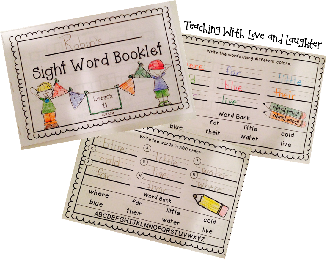 Sight Word Booklets For Use With First Grade Journeys
